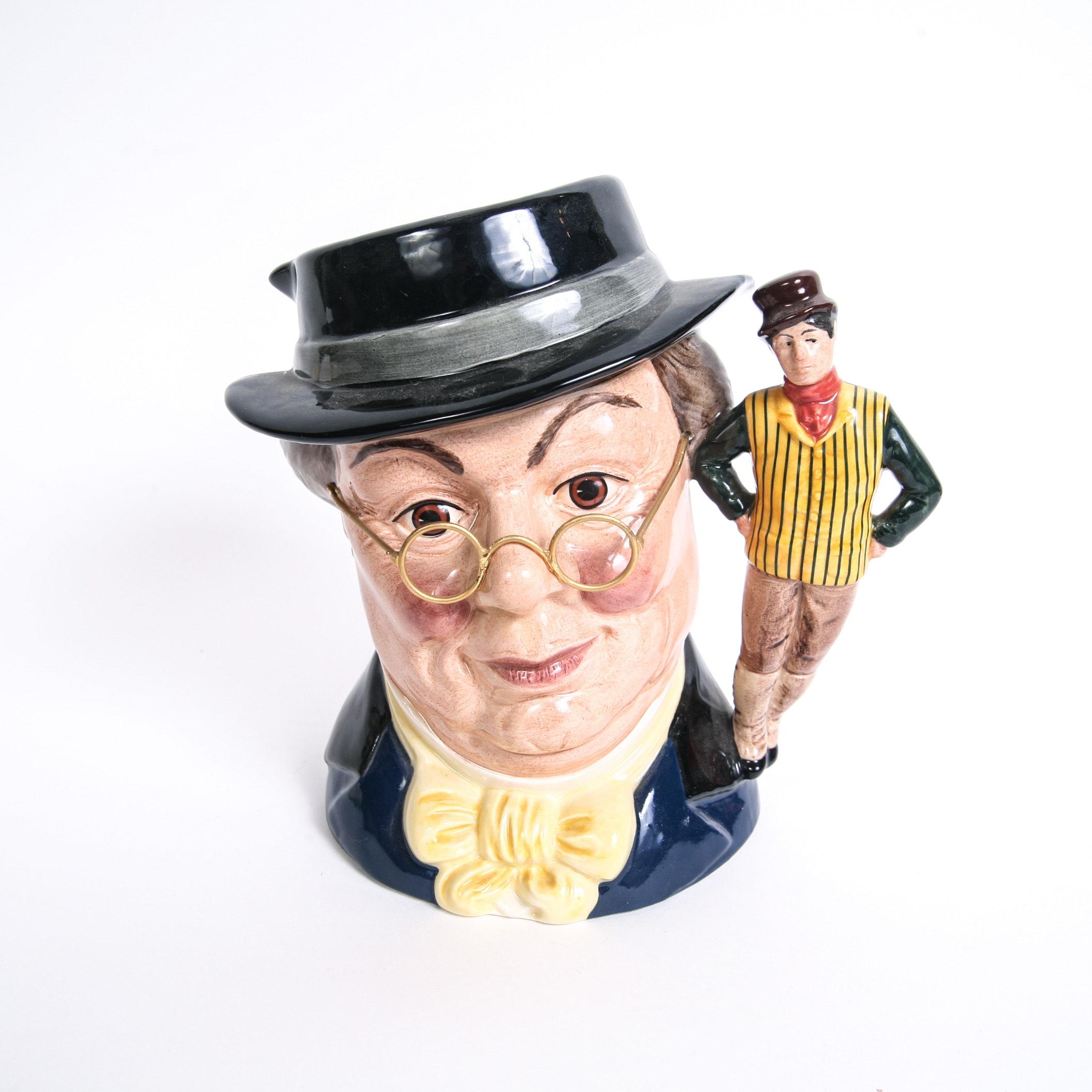 "Limited Edition Royal Doulton ""Mr. Pickwick"" D.6959 Toby Jug, COA"