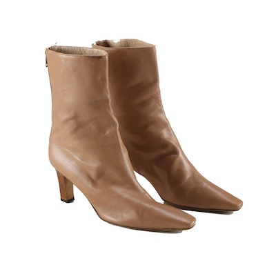 Pair of Manolo Blahnik Leather Heeled Boots,