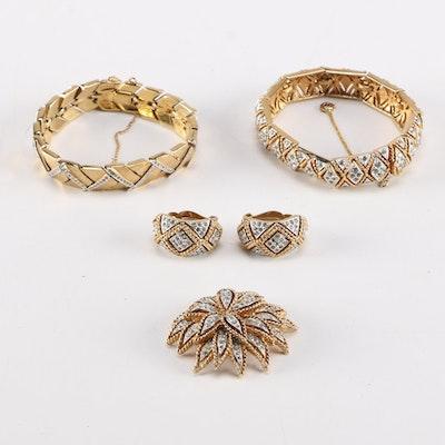 Panetta Bracelets, Earrings, and Brooch