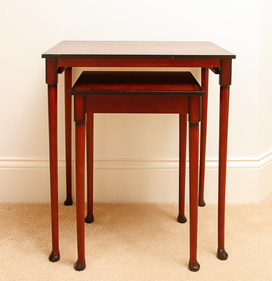 Set of Cherry Wood Nesting Tables. Set of Cherry Wood Nesting Tables   EBTH