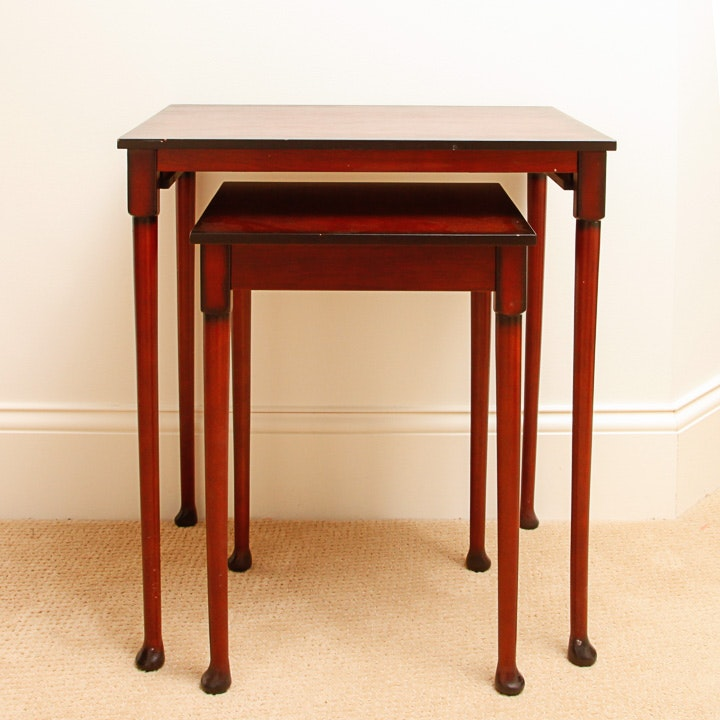 Set Of Cherry Wood Nesting Tables ...