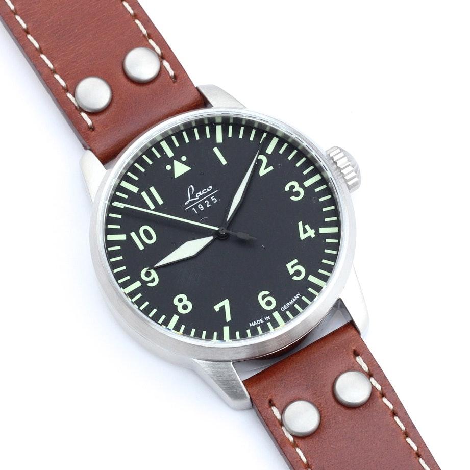 LACO Automatic German WWII Pilot Fliegeruhr Wristwatch : EBTH