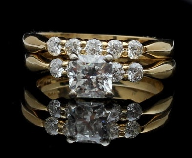 18K Gold and Platinum 1.15 CTW Diamond Engagement Ring