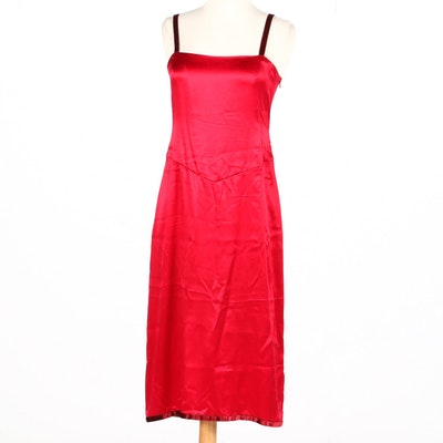 Prada Red Silkblend Dress