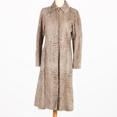 Alberta Ferretti Persian Lamb and Wool Reversible Coat
