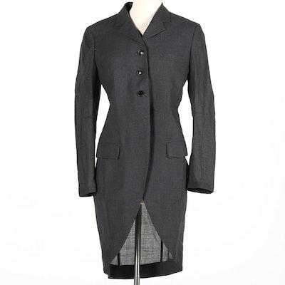 Yohji Yamamoto Women's Charcoal Jacket