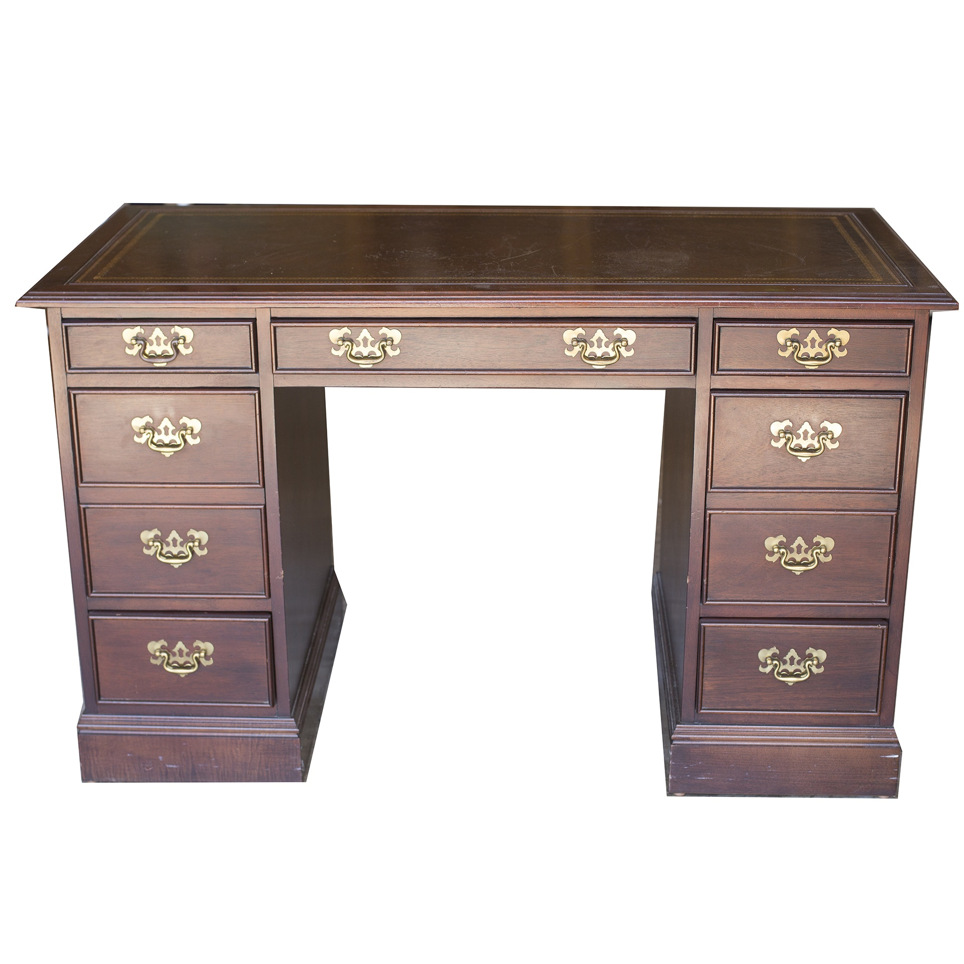 Superbe Wooden Desk Made By Sligh Furniture In Holland, Michigan ...