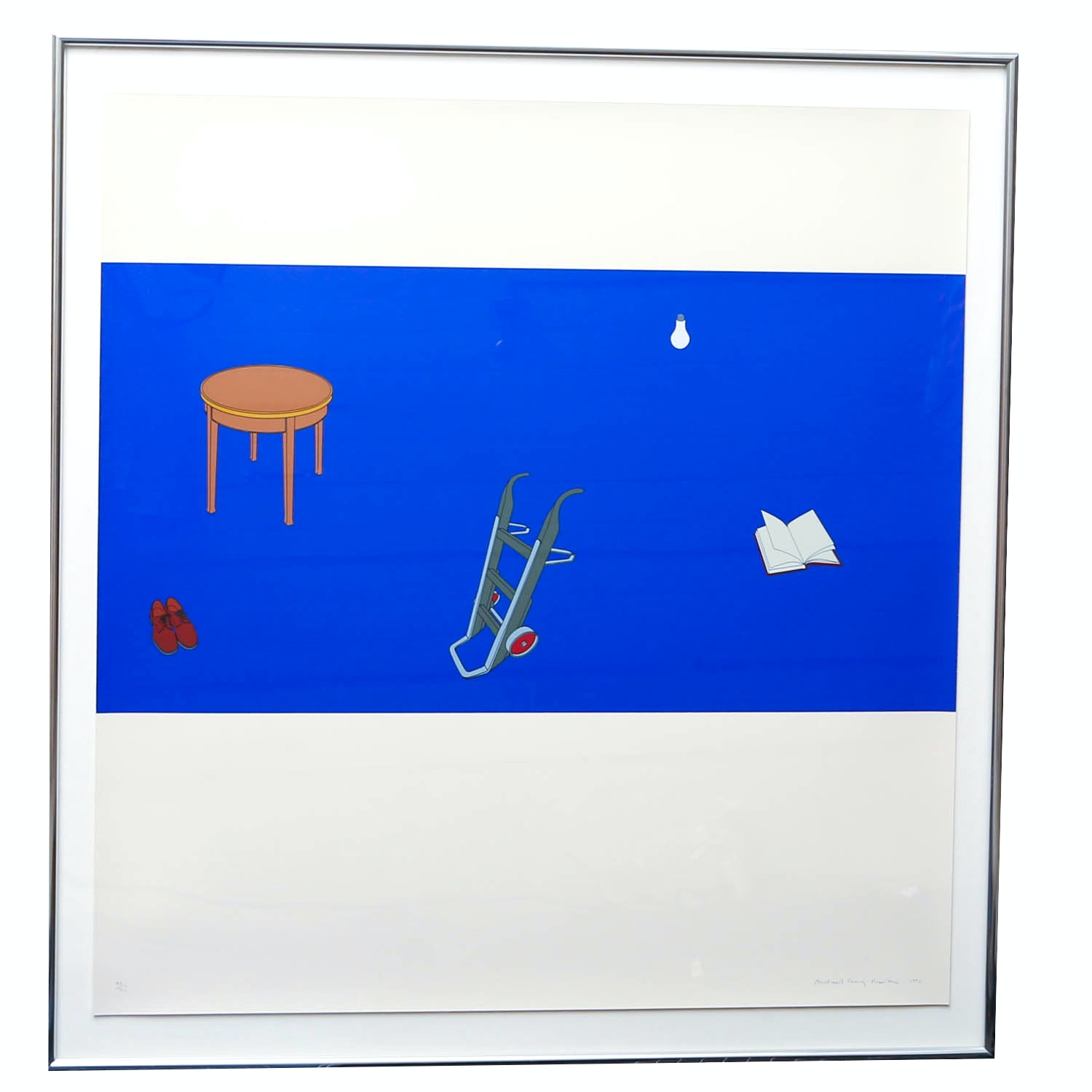 """Michael Craig-Martin """"Japanese Screen"""" Signed Limited Edition Screen Print"""