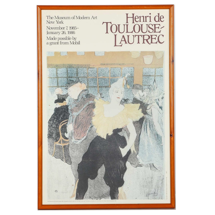 Toulouse Lautrec 1985 1986 Exhibition Poster For The Museum Of Modern Art