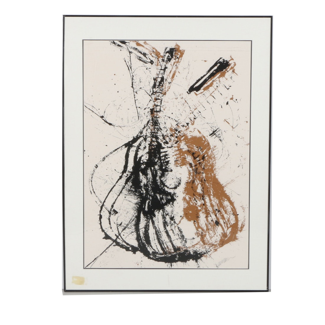 """Arman Signed Limited Edition Serigraph """"Homage to Segovia"""""""