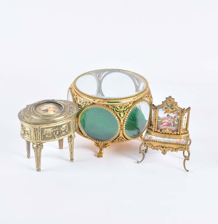 antique and vintage jewelry caskets ebth