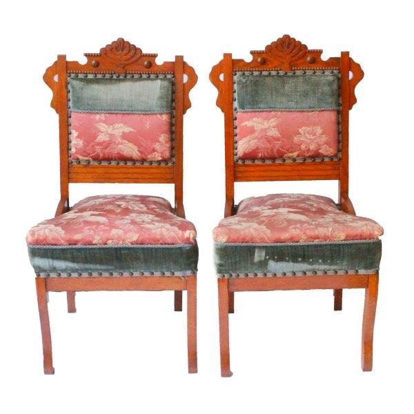 Two Victorian Eastlake Chairs ...