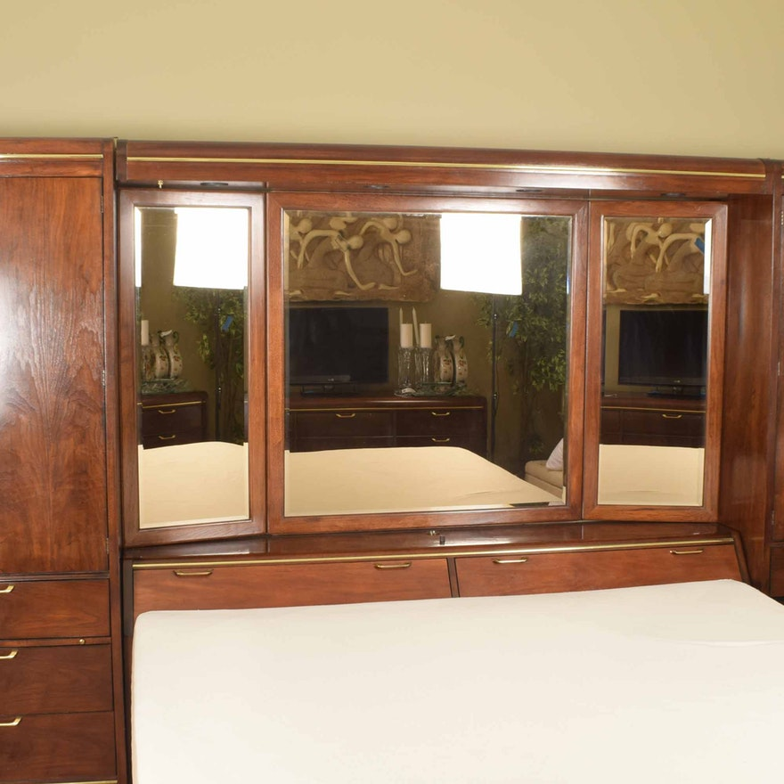 Thomasville King Bedroom Headboard Storage System : EBTH