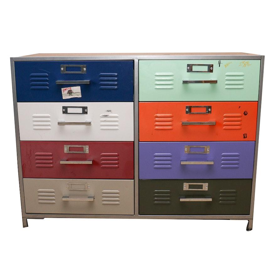 Metal Locker Style Dresser Ebth