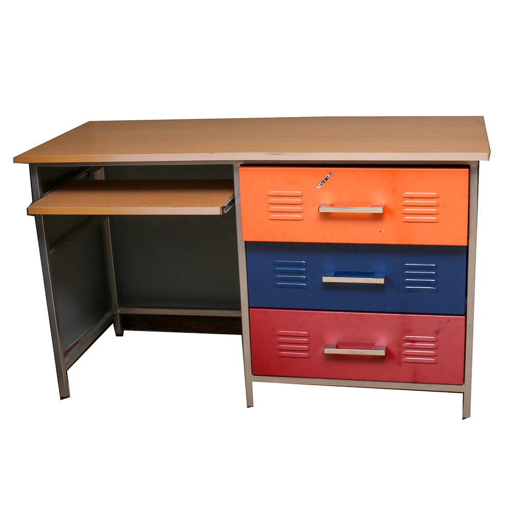 Metal Locker Style Desk Ebth