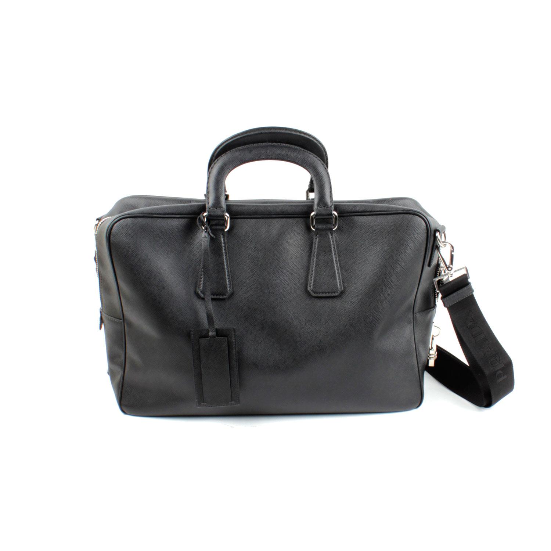 1e881b190c64c5 ... italy mens prada saffiano leather travel bag ebth 9d85e 07ef4
