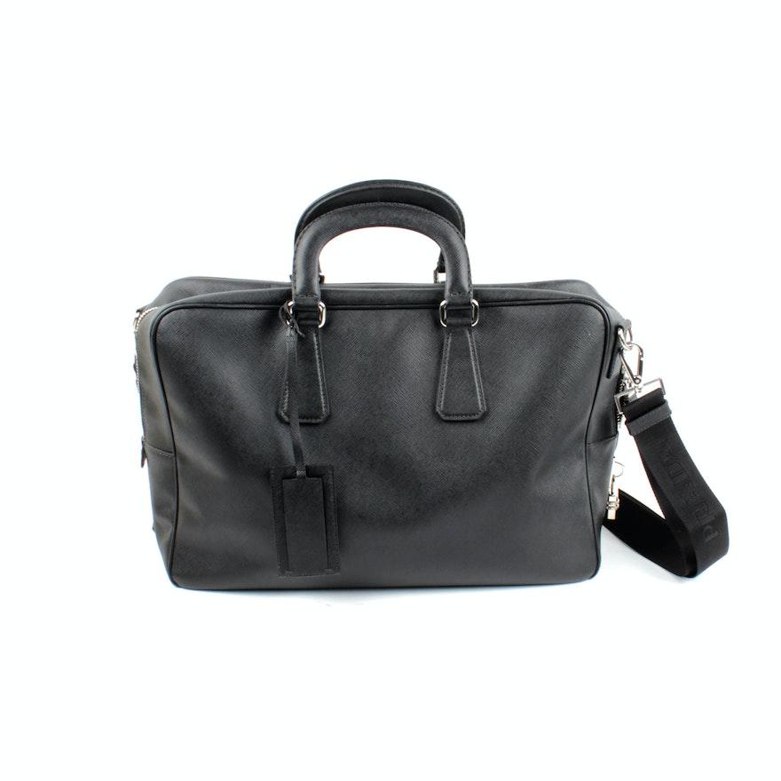 9400838e9aa5 Men s Prada Saffiano Leather Travel Bag   EBTH