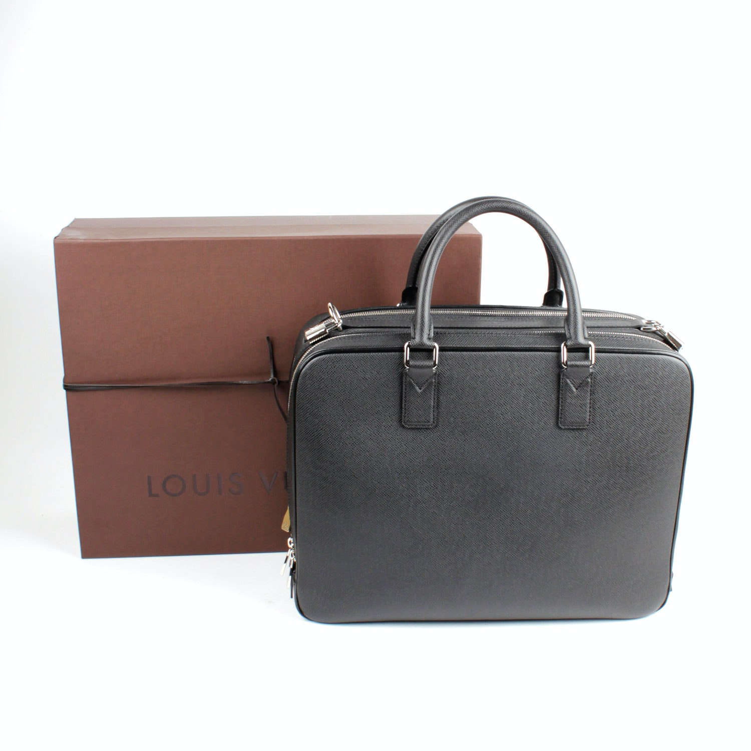 Louis Vuitton Ned Alexander Briefcase in Taiga Leather
