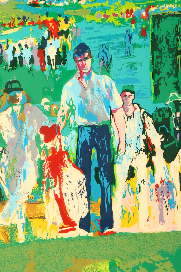 leroy neiman serigraph augusta golf ebth. Black Bedroom Furniture Sets. Home Design Ideas