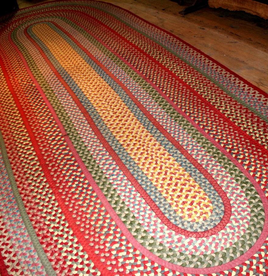 Large Vintage Braided Rug : EBTH