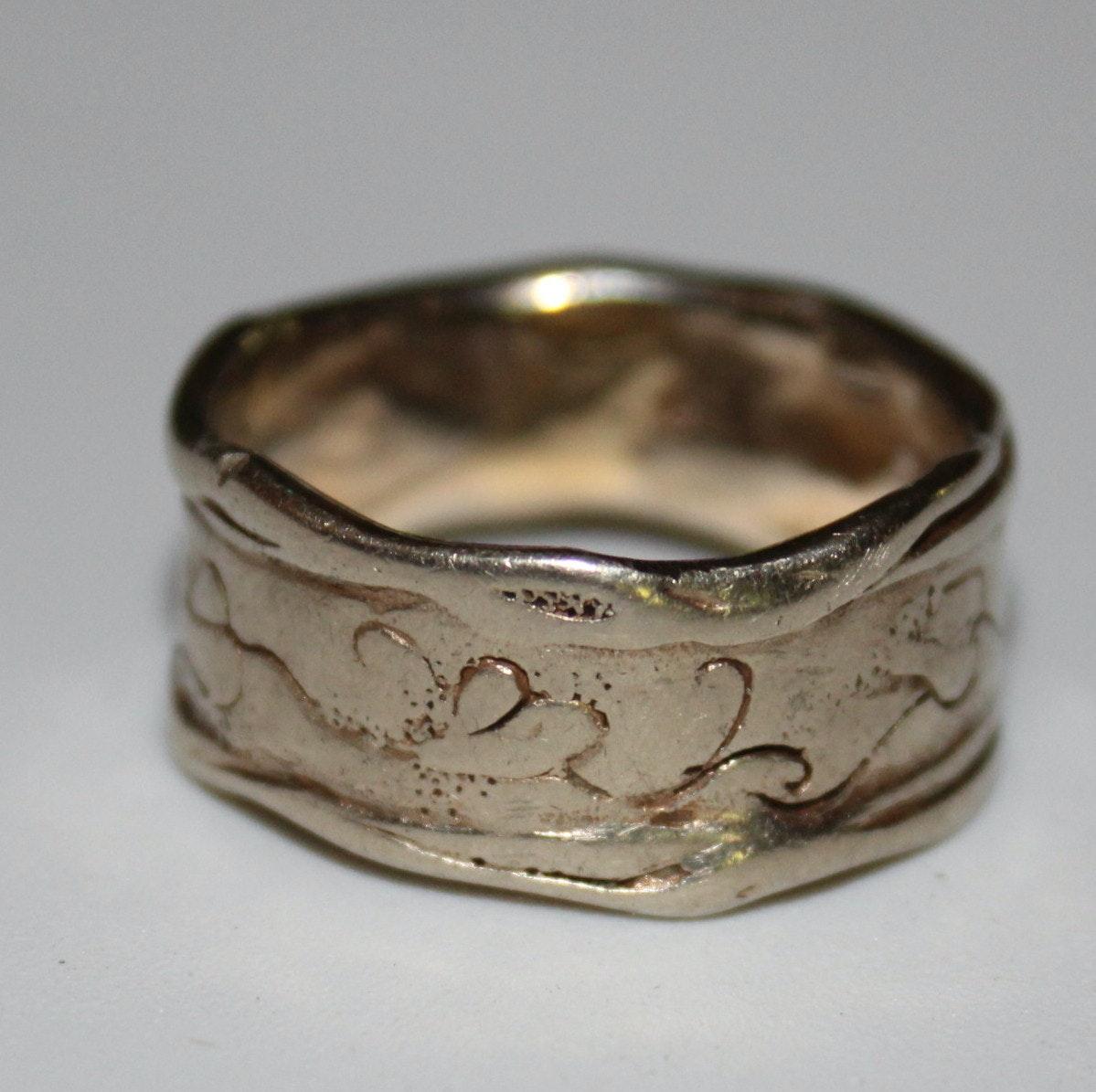 14K Gold Artisan-Made Men's Ring
