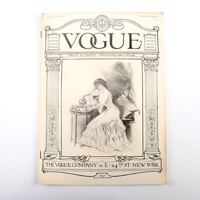 Antique September 1907 Vogue Magazine