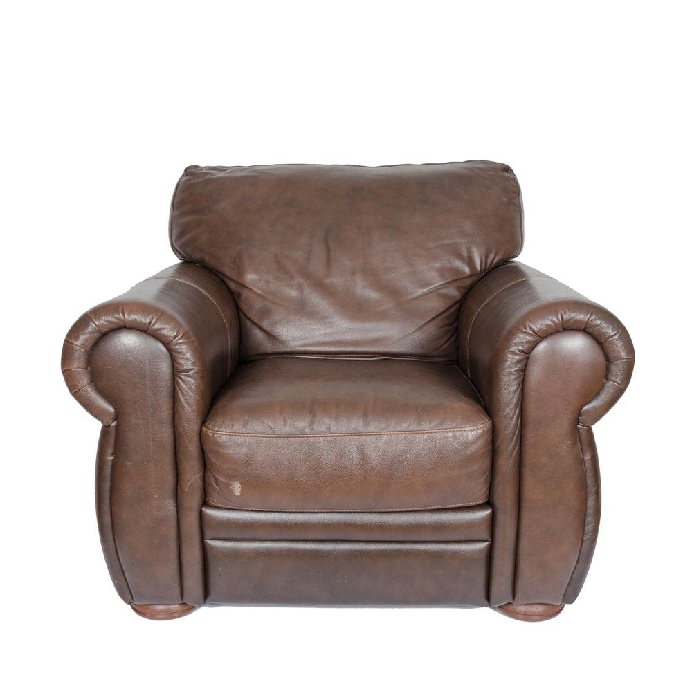Brown Leather Club Chair EBTH