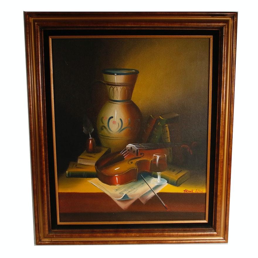 Vargas Floral Still Life Oil Painting | EBTH