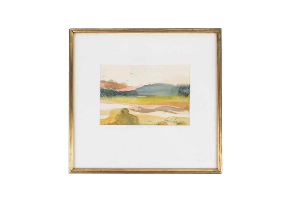 Original Savenor Landscape Watercolor