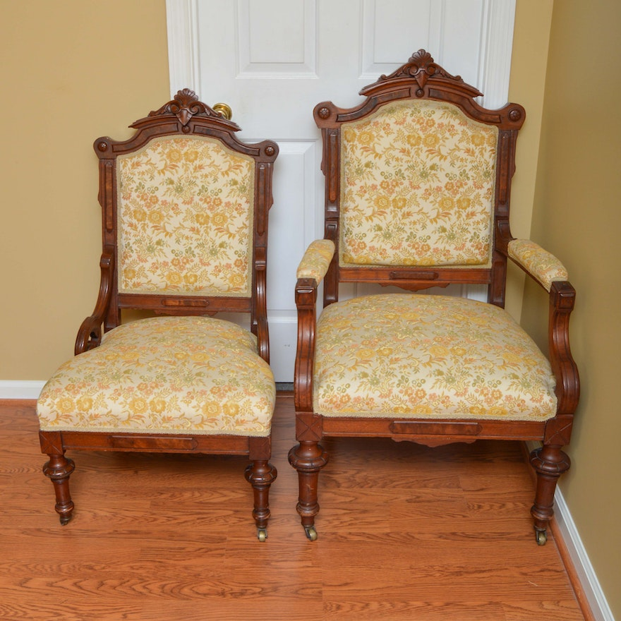 Antique Empire Style Parlor Chairs ... - Antique Empire Style Parlor Chairs : EBTH