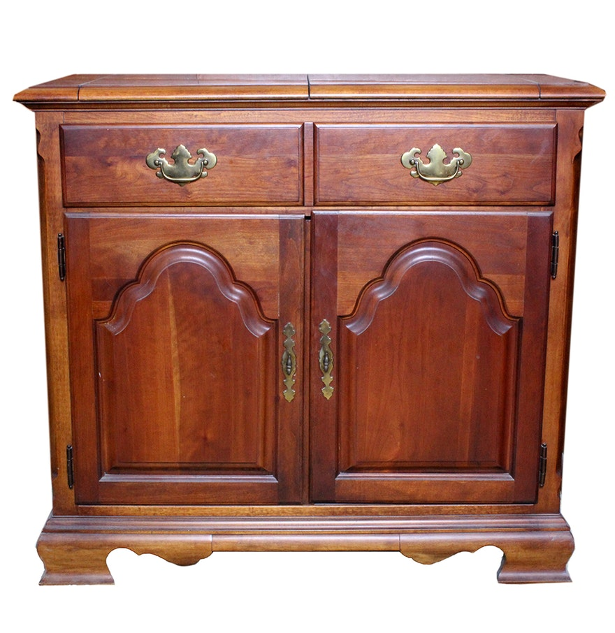 Tradtional Colonial Style Lift Top Bar Cabinet By Stanley Furniture Ebth