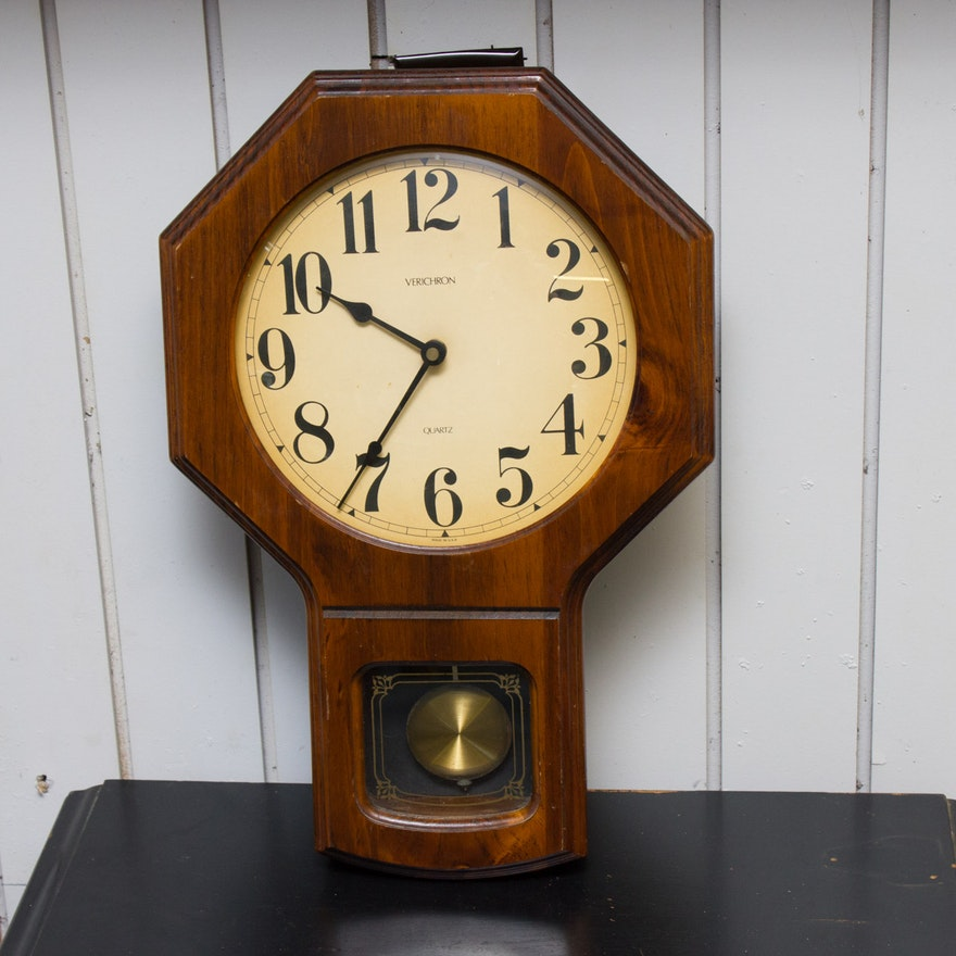 Vintage Verichron Wall Clock : EBTH