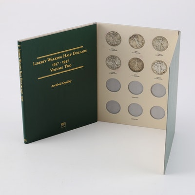 Display Booklet of Walking Liberty Half Dollars