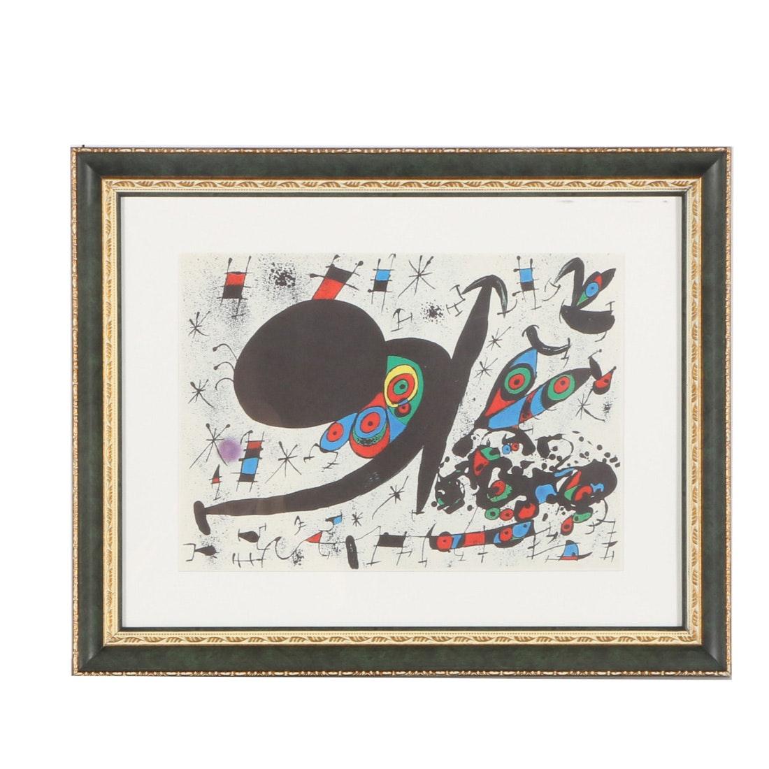"Joan Miro Lithograph ""Homenatge a Joan Prats"""