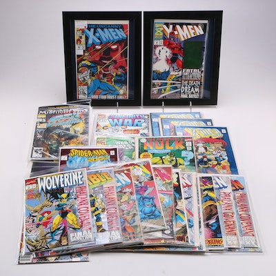 Large Collection of 1990s Marvel Comic Books