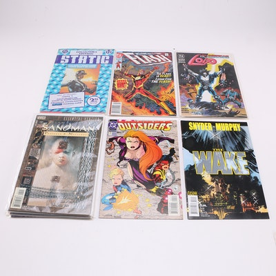 """DC Comic Books Including """"Static"""" #1 Collector's Edition"""