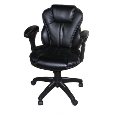 Tufted Leather Office Chair EBTH