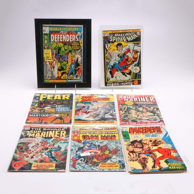"""1970s Marvel Comic Books Including """"Marvel Feature Presents: The Defenders"""""""