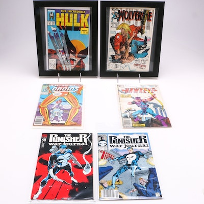 """1980s Marvel Comic Books Including """"The Incredible Hulk"""" and """"Star Wars Droids"""""""
