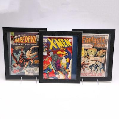 Framed 1960s Marvel Comic Books
