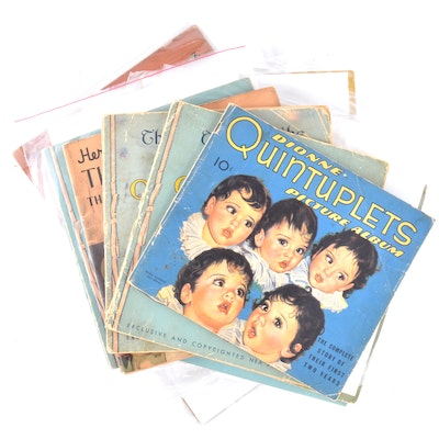 Group of 1930s Dionne Quintuplets Story and Picture Books