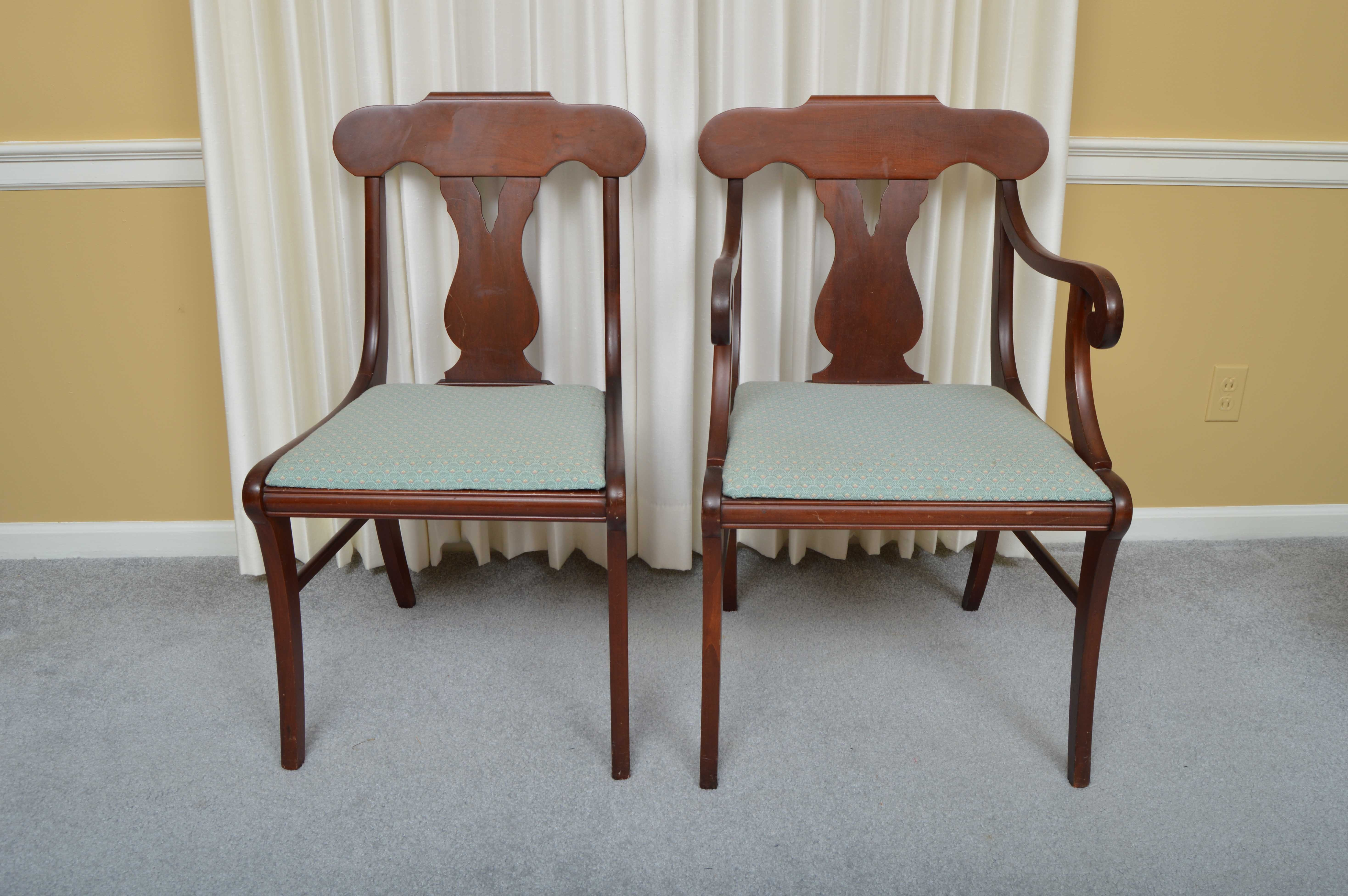 Cherry Regency Style Dining Chairs By Paramount Furniture