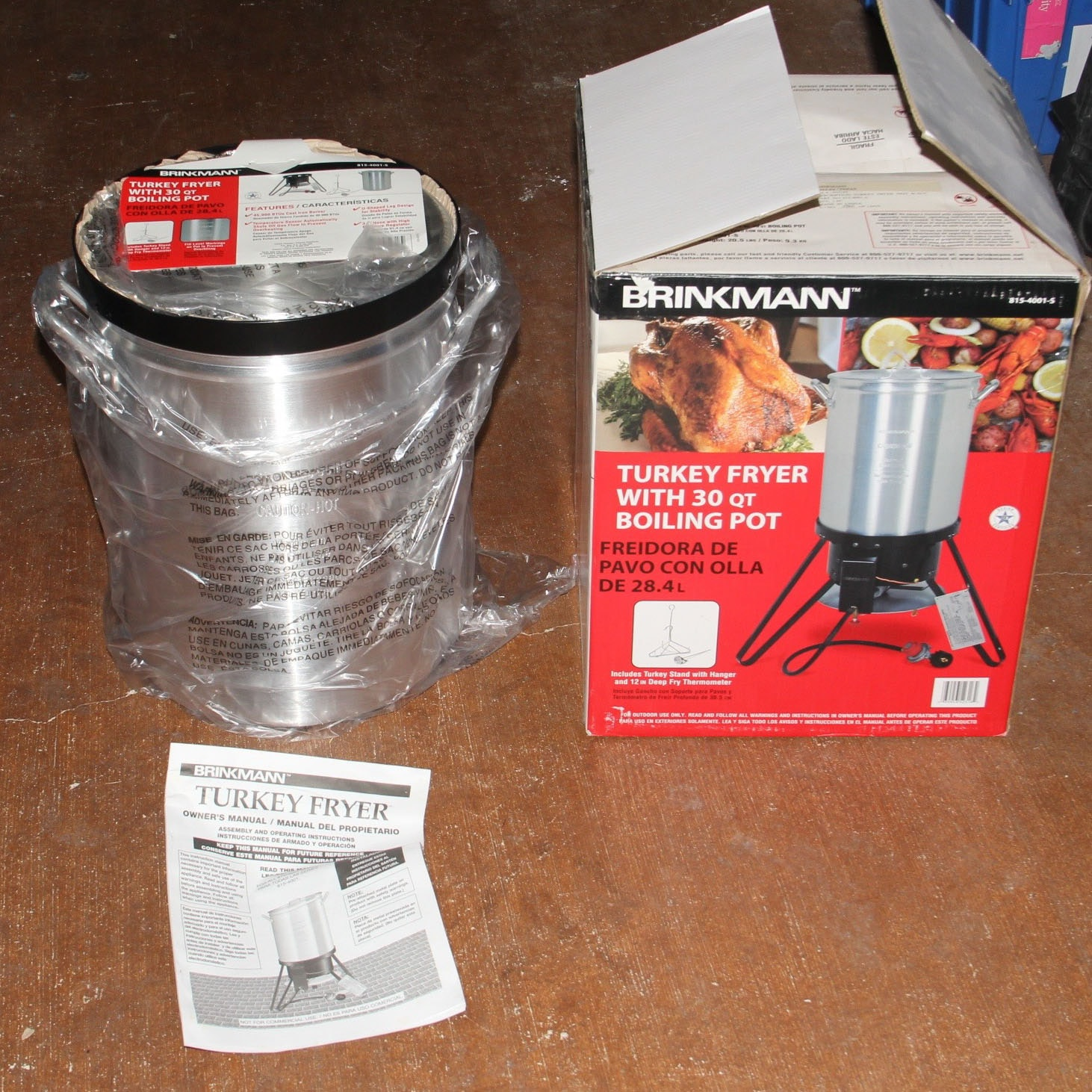 brinkmann turkey fryer with thirty quart boiling pot ebth rh ebth com Brinkmann 30 Qt Turkey Fryer Turkey Fryer From Walmart