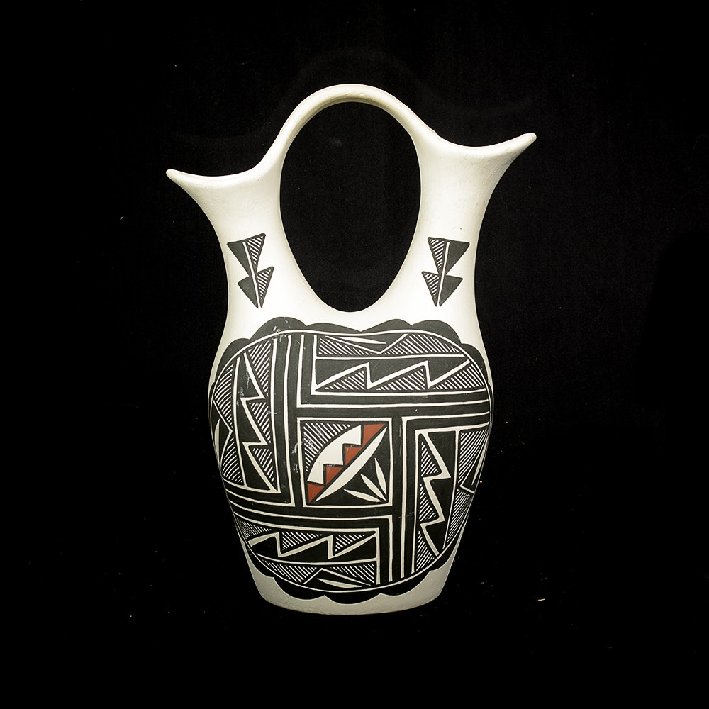 Signed Native American Wedding Vase