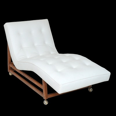 Mid century modern art d cor more 16nas138 ebth for Adams white chaise lounge