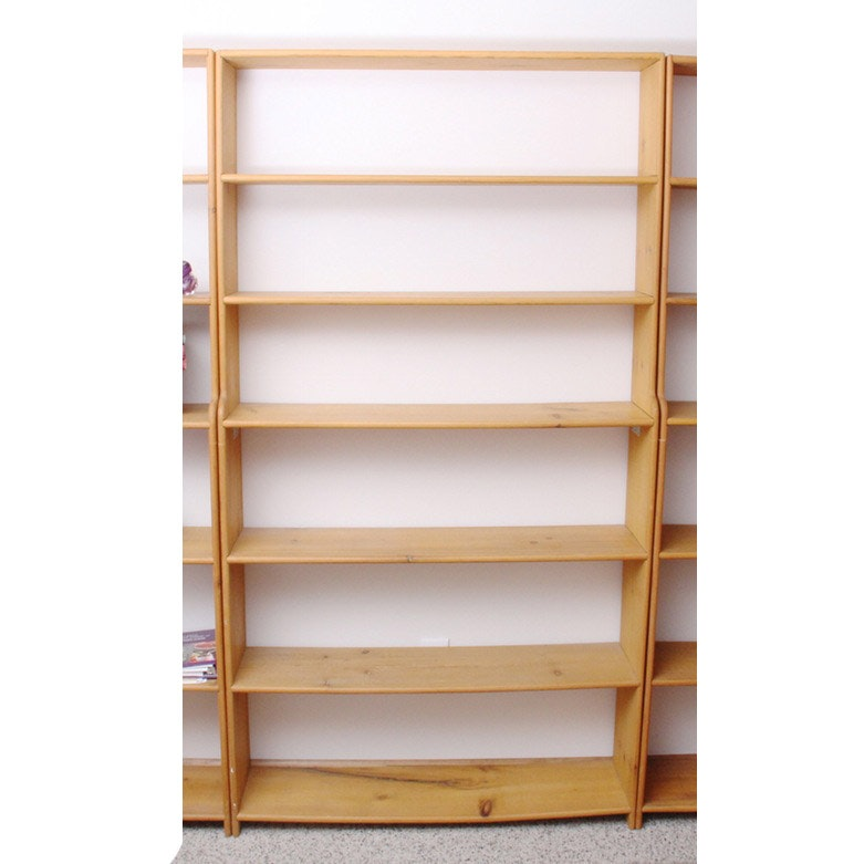 Two Handmade Wood Bookcases Ebth