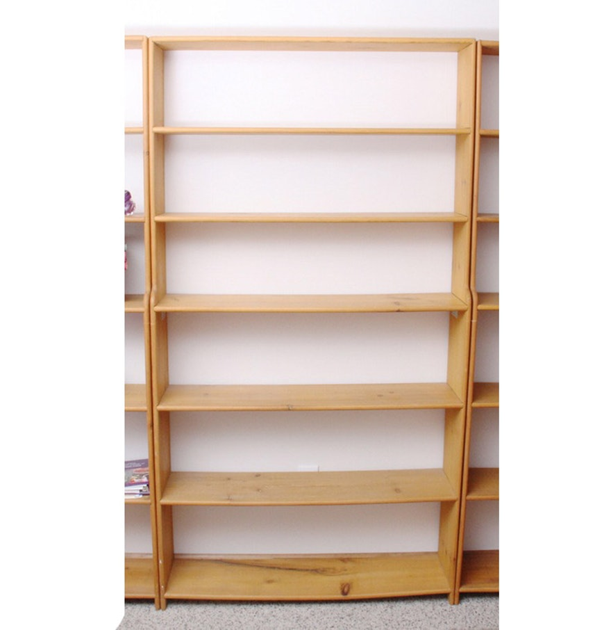 Two Handmade Wood Bookcases : EBTH