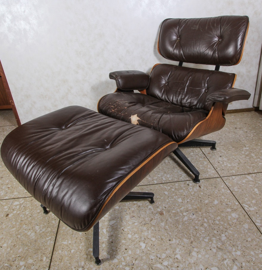 Vintage eames lounge chair - Vintage Eames Lounge Chair And Ottoman By Herman Miller