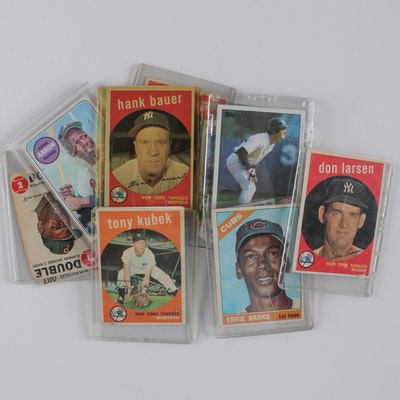 Vintage Baseball Cards Including 1969 Hank Aaron and 1959 Yankees