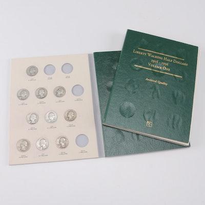 Liberty Walking Half Dollar Series from 1916 to 1936 and Washington Quarters